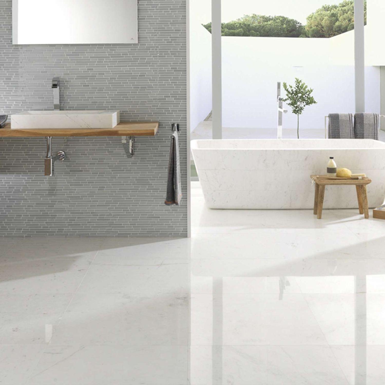 baldosa de interior para bao de suelo de mrmol persian white pulido - Suelo Marmol