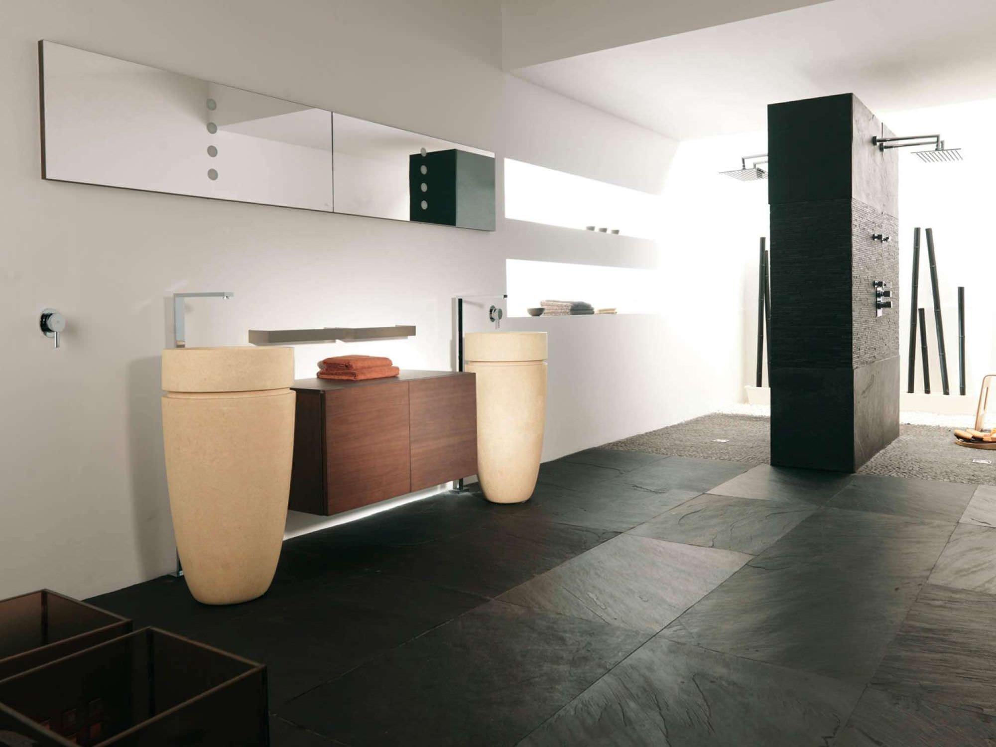 baldosa de interior / para baño / de suelo / de pizarra - bhutan