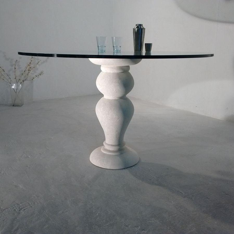 Mesa de comedor clásica / de piedra / de cristal / redonda - 700 ...