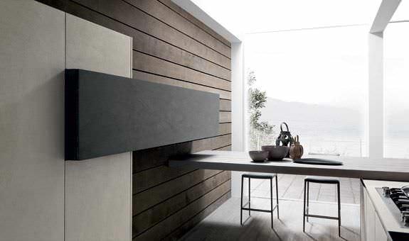 Cocina moderna / de madera / de hormigón / con isla - TWENTY RESINA ...