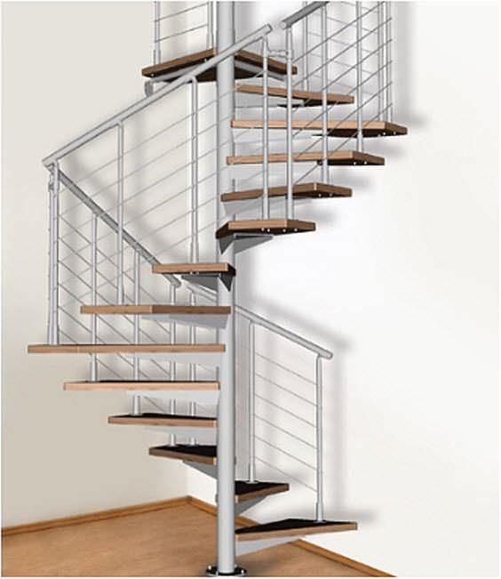 escalera de caracol cuadrada con peldaos de madera estructura de acero inoxidable sin quadrato