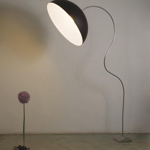 Lámpara De Fundido Acero Moderna Luna Pie Hierro TFK5l1uJc3