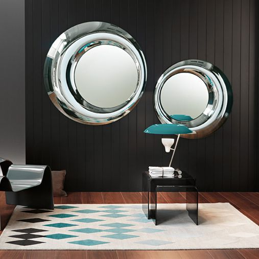 espejo de pared moderno redondo para saln rosy by u doriana fuksas