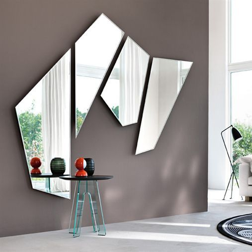 Espejo De Pared Para Salon Suspendido Moderno Mirage By - Espejo-salon-moderno