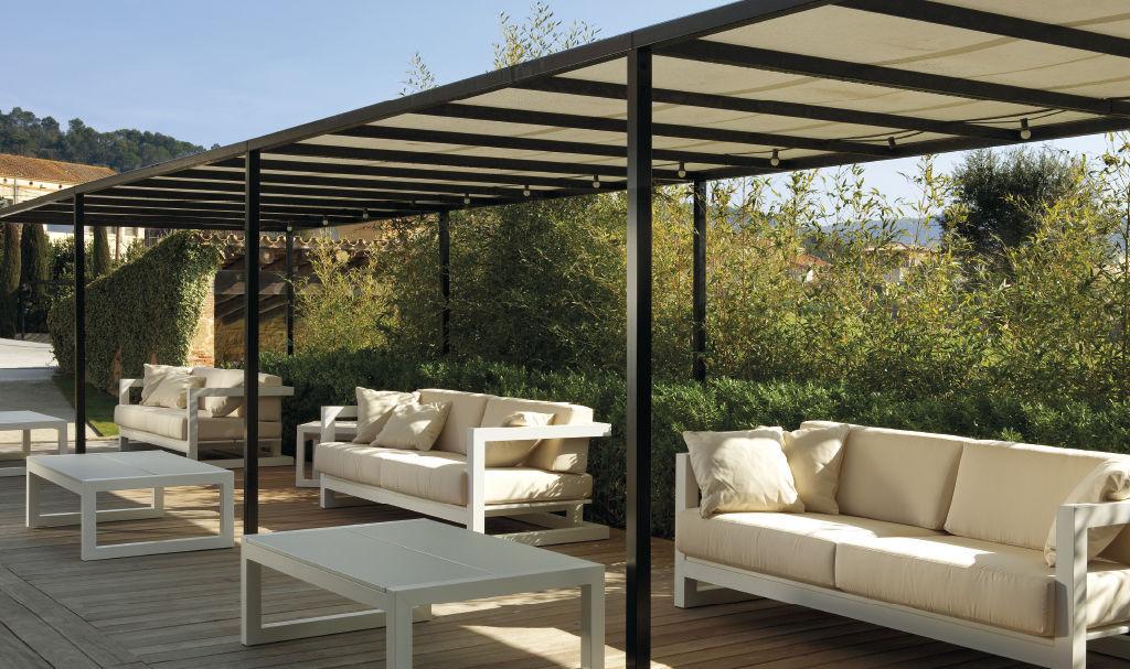 Sofá moderno / de jardín / de Textilene® / de aluminio - WEEKEND by ...