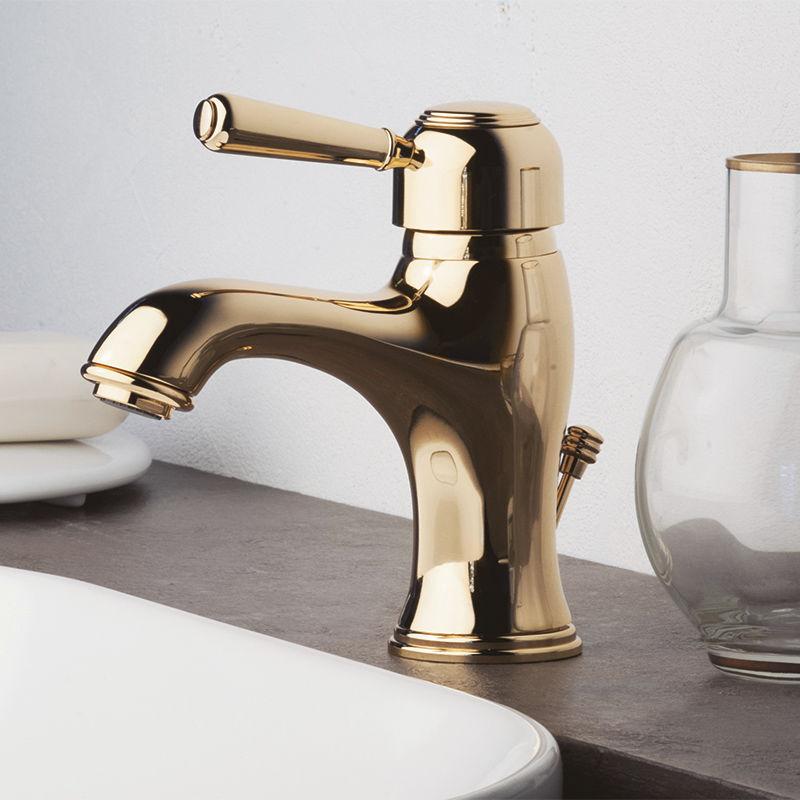 grifo monomando para lavabo de metal cromado de latn de cobre arte fbar