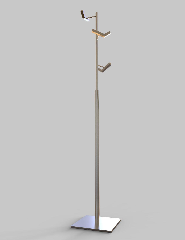 perchero de pie de diseo minimalista de acero para uso profesional analytic