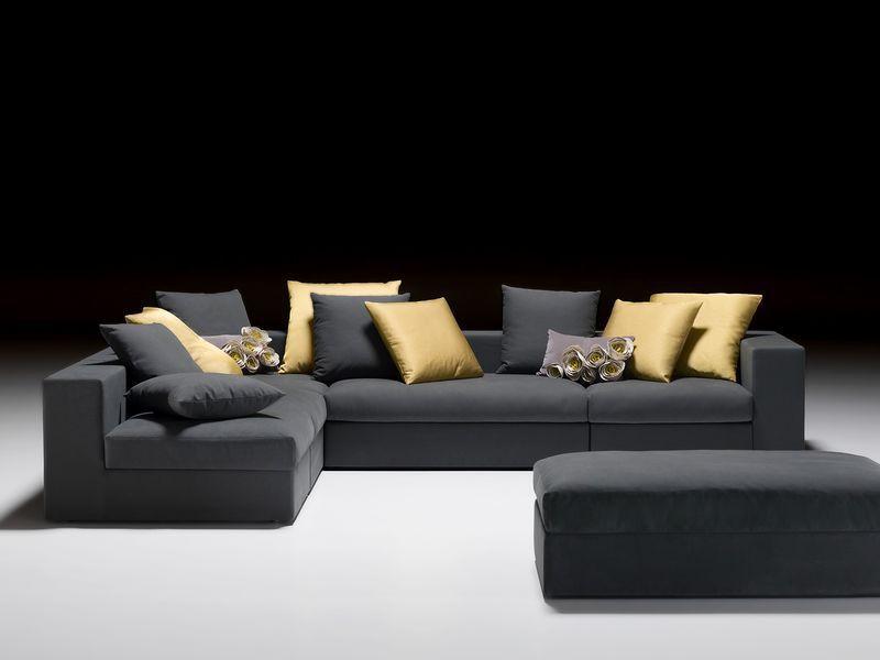 Sofá modular / moderno / de tejido / de cuero - GALATEA - ARTANOVA