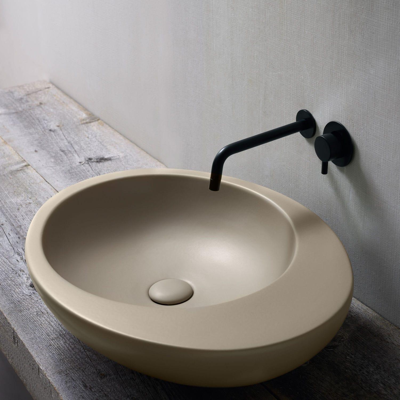 Lavabo Sobre Encimera Ovalado De Cer Mica De Dise O Original  ~ Lavabos De Diseño Sobre Encimera