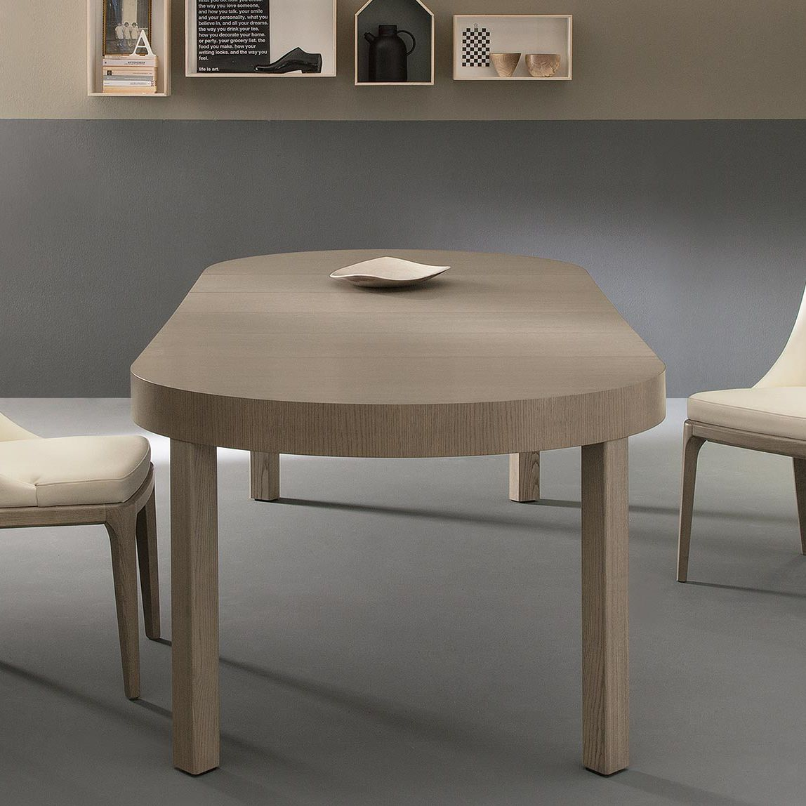 Mesa de comedor moderna / de madera / ovalada / extensible - ZED ...
