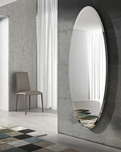 espejo de pared moderno ovalado ionico