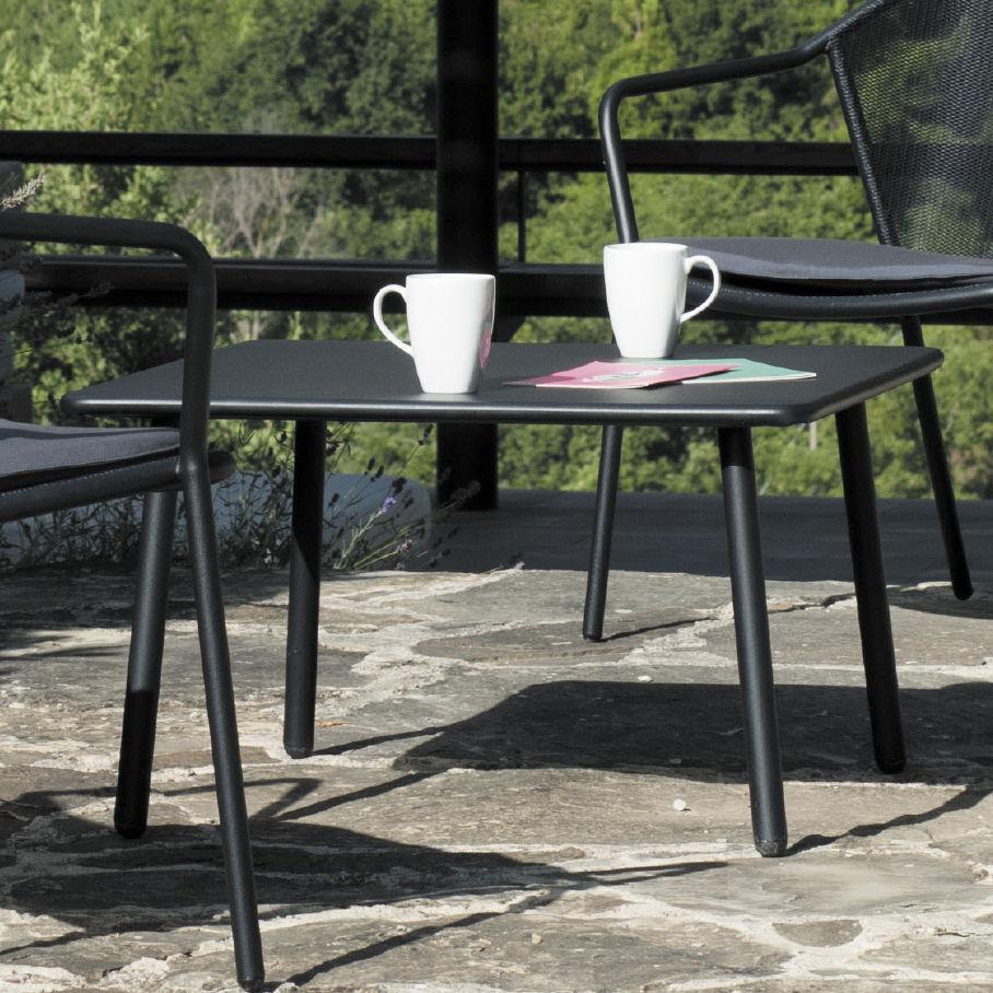 Mesa de centro moderna / de acero / cuadrada / de jardín - DARWIN - EMU