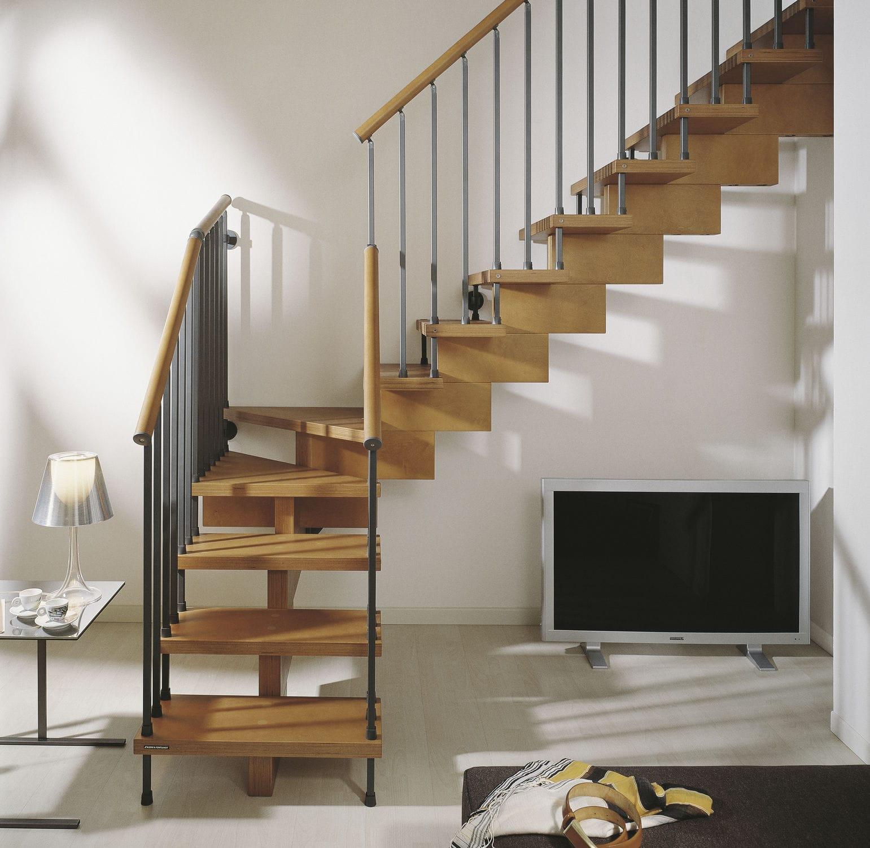 Escalera En L Con Pelda Os De Madera Estructura De Madera  ~ Escaleras Prefabricadas De Madera