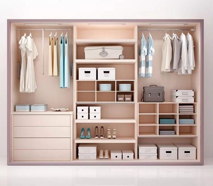 armario moderno de madera con puertas corredizas para nia bf