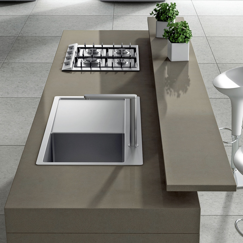 Encimera de Silestone® / para cocina / marrón - NOKA - Cosentino