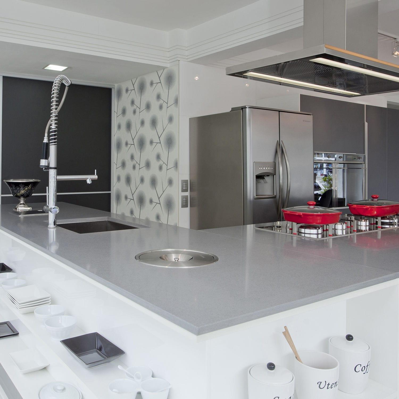 Cocinas De Silestone | Encimera De Silestone Para Cocina Gris Expo Cosentino