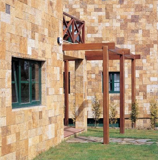Revestimiento De Fachada De Piedra Natural / Texturado / De Ladrillo    MORISCA