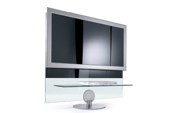 mueble de televisin moderno giratorio de vidrio mini flat