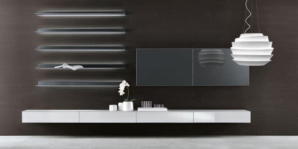 Mueble de salón moderno / de vidrio - ABACUS by Giuseppe Bavuso ...