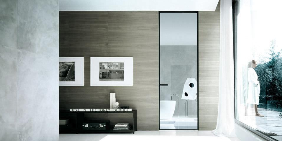 puerta de interior de vaivn de aluminio suelotecho vela by giuseppe bavuso