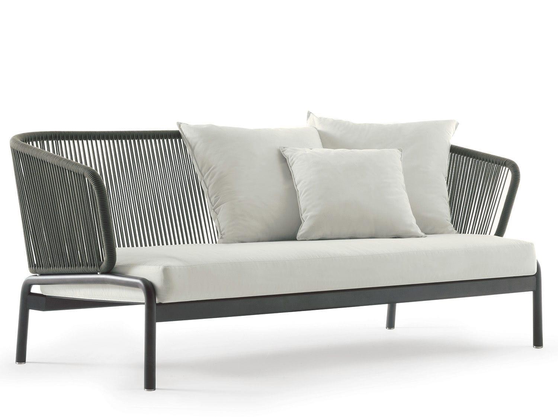 Sofá moderno / de jardín / de tejido / de metal - SPOOL 002 - RODA
