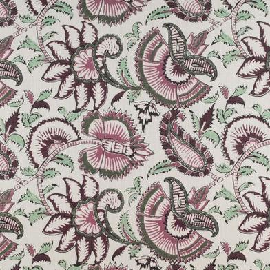 Tela de tapicería / de flores / de lino / de viscosa - FLORIDA ...
