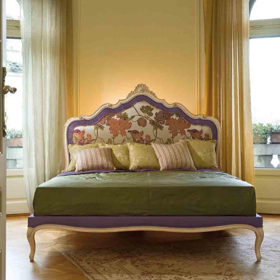 Cama estándar / de matrimonio / de estilo Luis XV / con cabecero ...