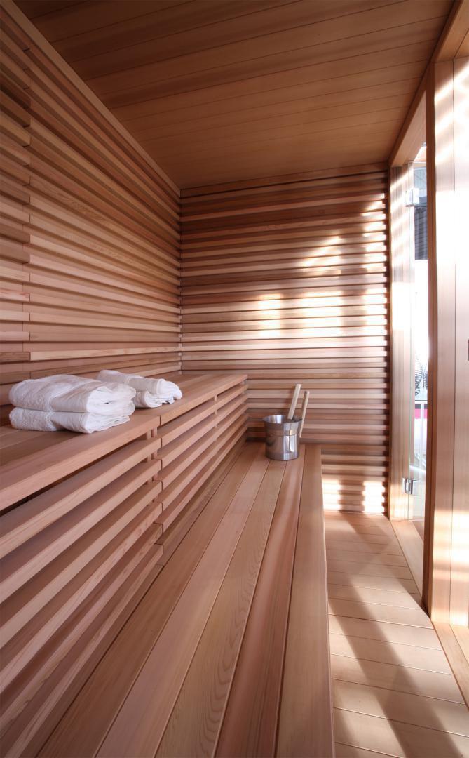 Sauna Para Uso Residencial De Madera De Cedro Para Exterior - Sauna-madera