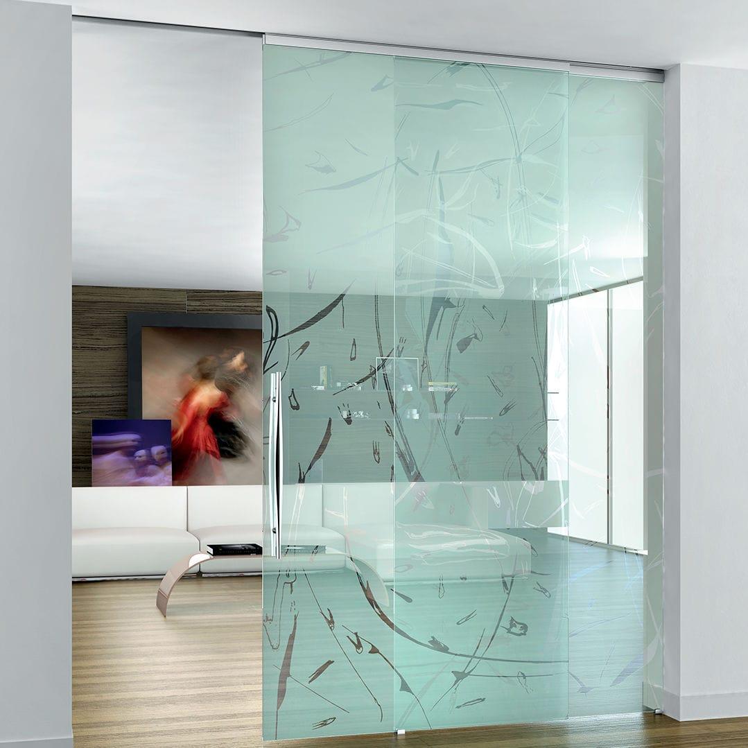 Puerta De Interior Corredera De Vidrio Suelo Techo Beta  ~ Puerta Corredera Cristal Exterior