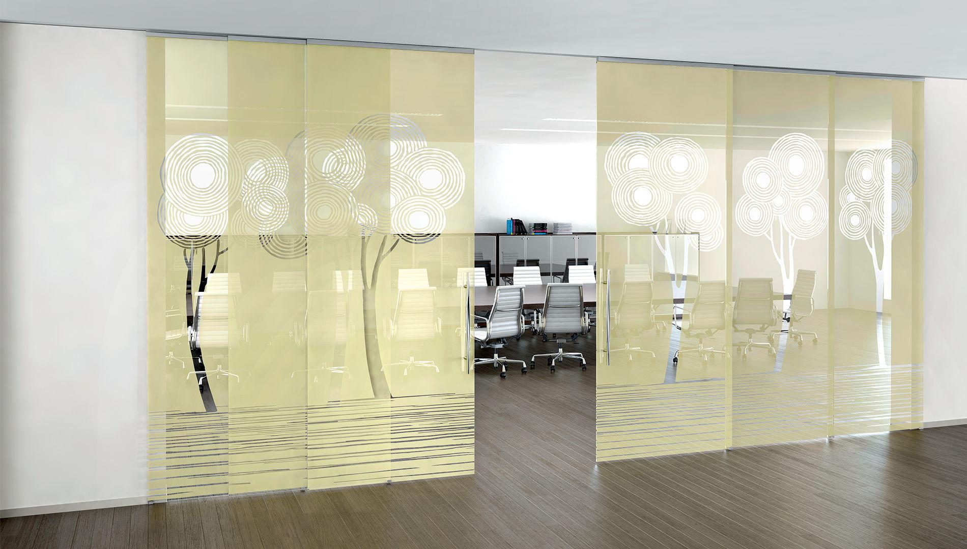 puerta de interior corredera de vidrio doble alpha enalios