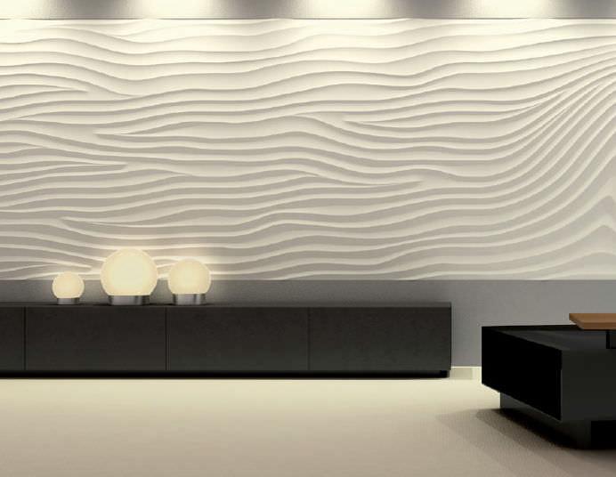 panel decorativo de yeso de pared 3d sin cov flow wave - Paneles De Pared