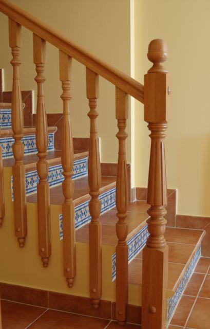 barandilla de madera de de interior para escalera sofia