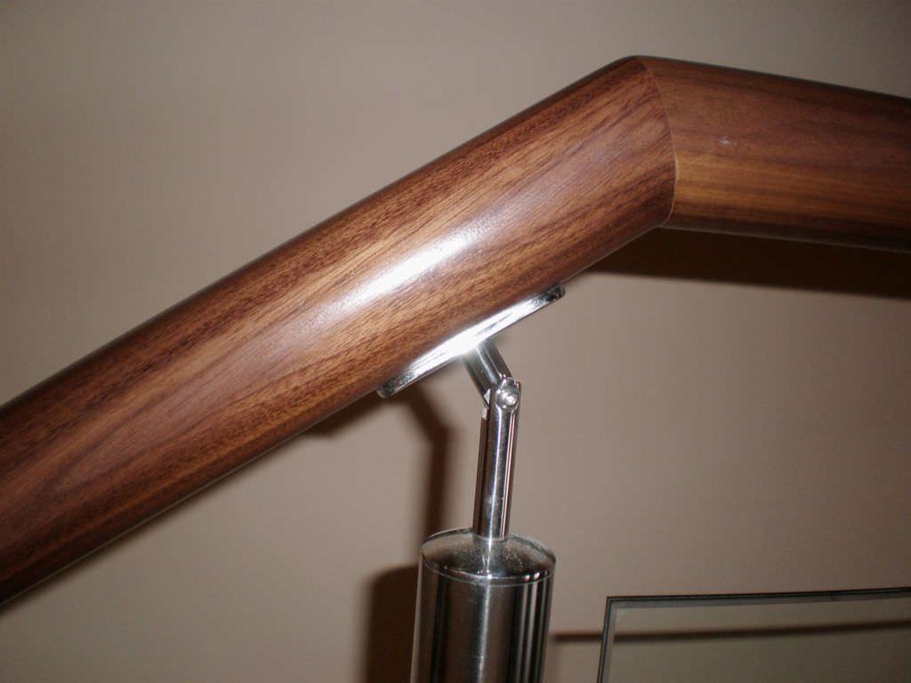 barandilla de vidrio de madera con barrotes de interior mixed balusters escaleras yuste