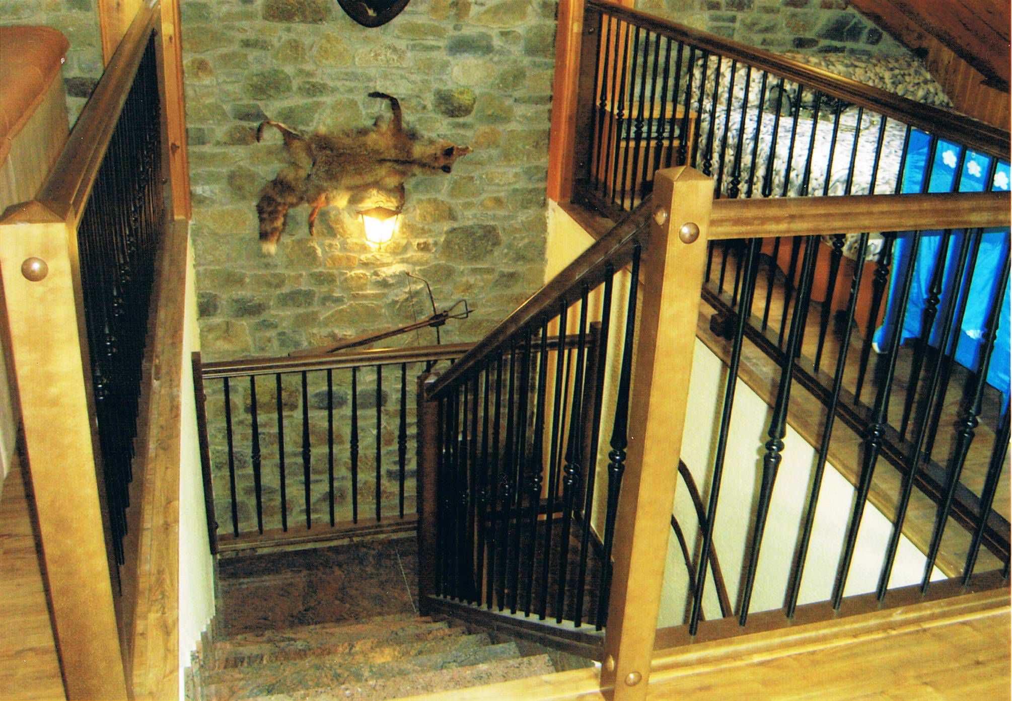 Barandilla De Metal De Madera Con Barrotes De Interior  ~ Barandillas De Forja Para Escaleras De Interior