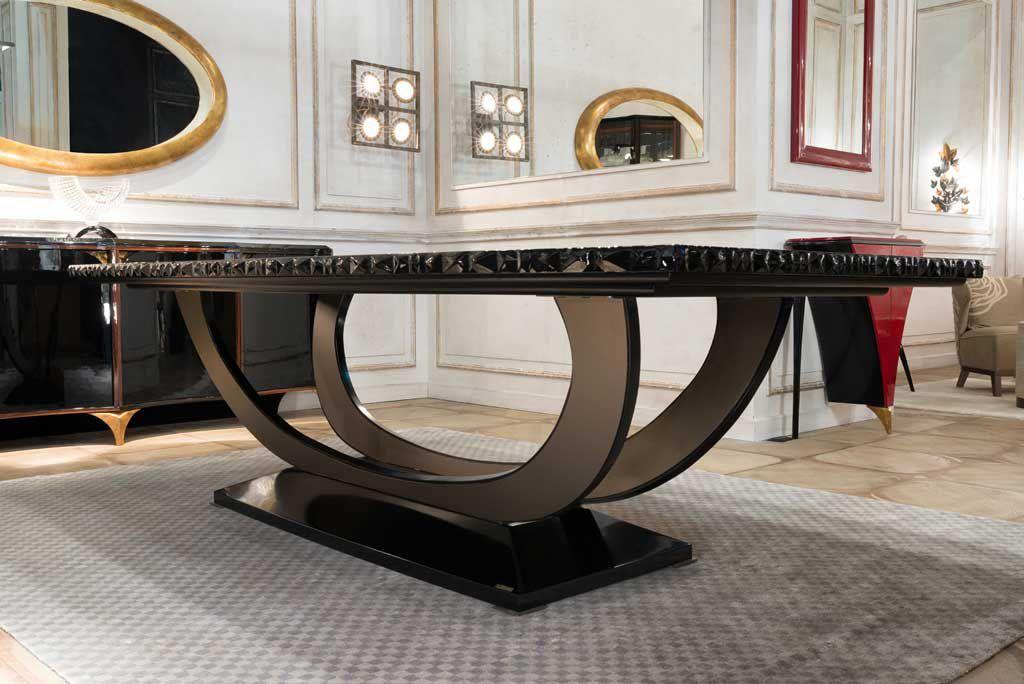 Mesa de comedor Art Deco / de madera maciza / de ébano de Makassar ...