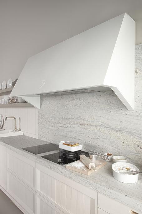 Cocina moderna / de acero / de madera / de Corian® - BLANCO NATA ...