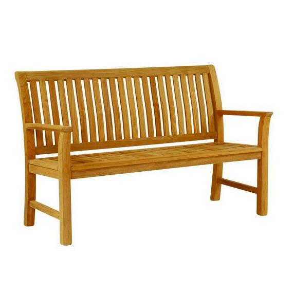b105f2eac95 Banco de jardín   clásico   de madera   con respaldo - CHELSEA ...