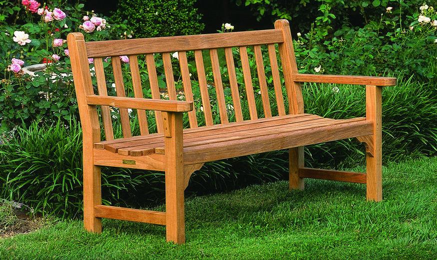 Banco de jardín / clásico / de madera / con respaldo - DUNBARTON ...