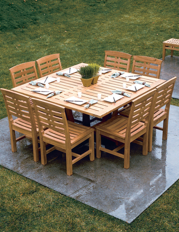 mesa clsica de madera para jardn mandalay