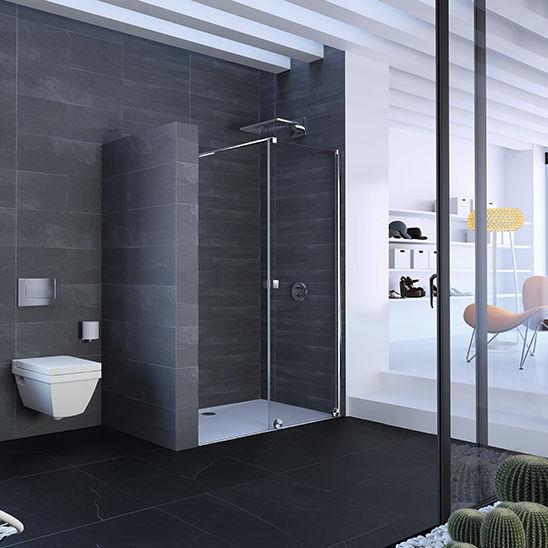 ducha de obra de vidrio profesional para ducha empotrada xtensa pure