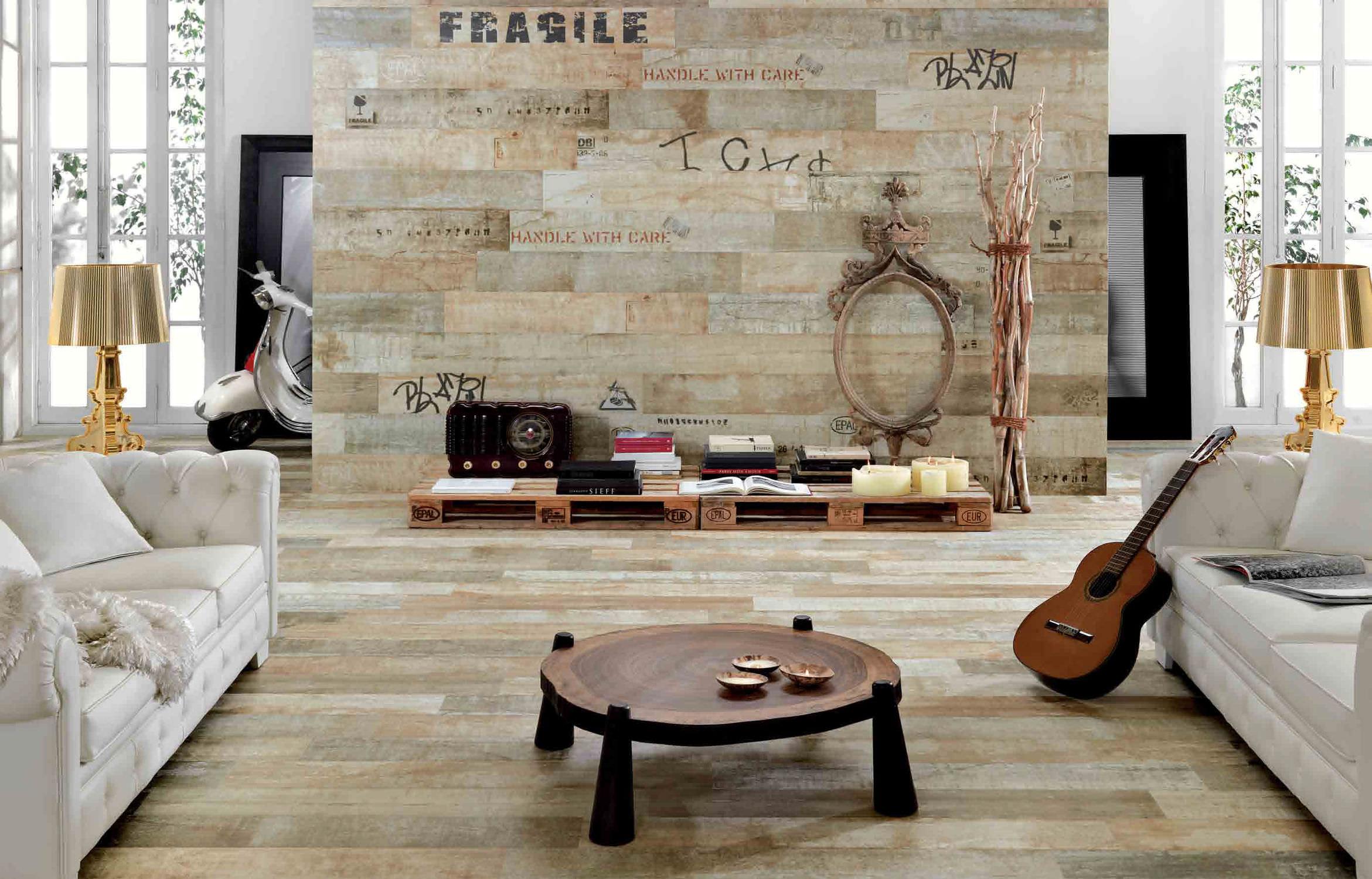 baldosa para suelo de gres porcelnico pulida aspecto parquet foresta timber