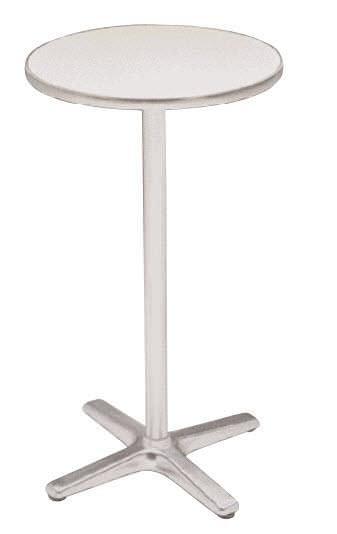 mesa alta moderna de metal redonda de exterior frankfurt