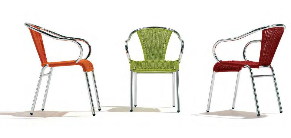 silla moderna de ratn sinttico apilable con barcino indecasa