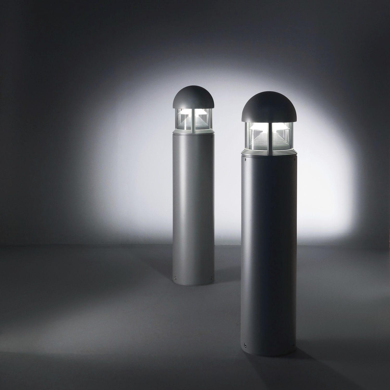 bolardo de iluminacin para jardn moderno de acero led column