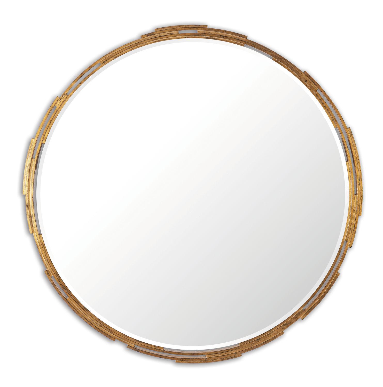 espejo de pared clsico redondo de madera