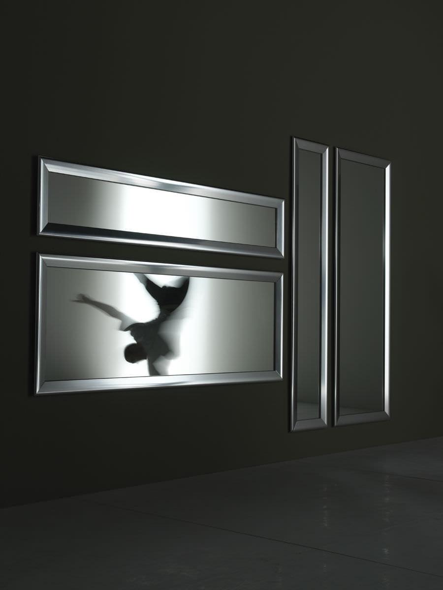 Espejo de pared / moderno / rectangular / de aluminio - YUME & BLACK ...