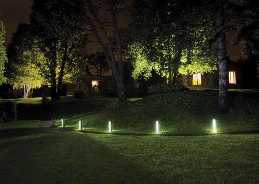bolardo de iluminacin para jardn moderno de metal led talia ares