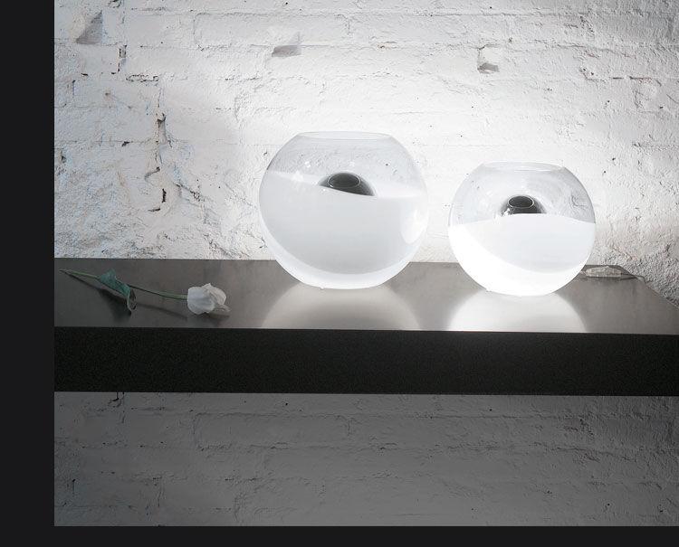 Lámpara de mesa / de diseño original / de vidrio / de interior ...