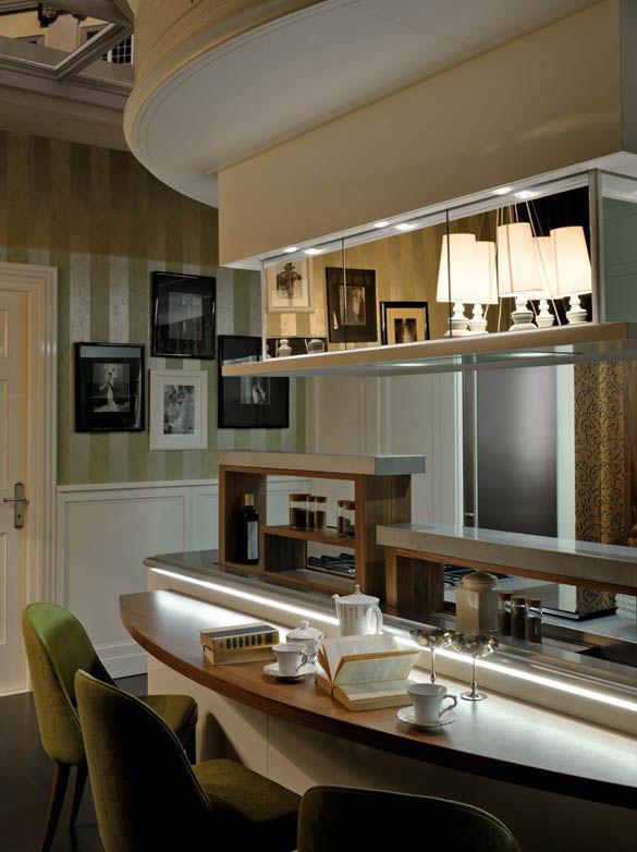 Cocina moderna / de madera lacada / de acero inoxidable / con isla ...