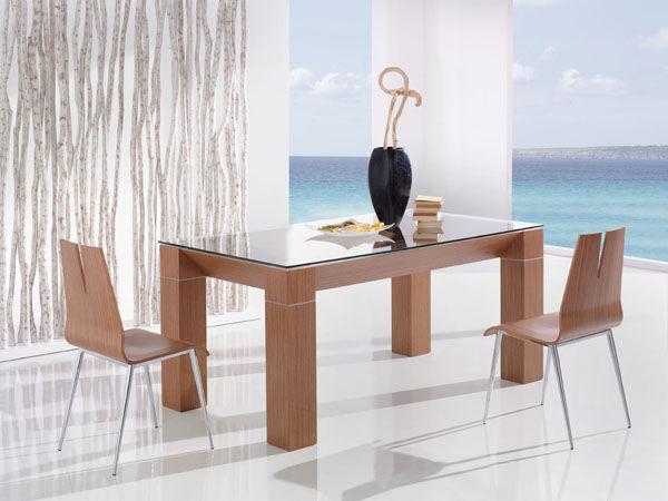 Mesa de comedor moderna / de vidrio / rectangular - ADRA - Tadel Grup